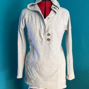 Volcom long  sweatshirt with hoodie. XS-Small